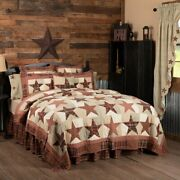 Country Primitive Abilene Star Patchwork Quilted Collection Vhc Brands