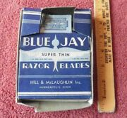 Vintage Blue Jay Razor Blades Super Thin Hill And Mclaughlin Store Display Ad Usa