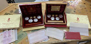 2008 Beijing Olympic Commemorative Gold And Silver Series 1and3 Coin Set