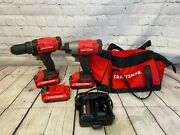 Craftsman Impact Cmcf800/drill Cmcd700 Tool Set + 3 Batteries And Charger
