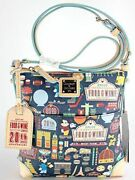 New Disney Dooney And Bourke 2015 20th Food And Wine Crossbody Letter Carrier