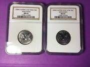 2004 D Wisconsin Extra Leaf High/low Quarters. Ngc Ms 63. Affordable. Nice Set.