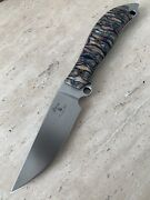 Busse Knife Custom Meaner Street .24 Hollow Ground Satin - Mammoth Tooth Handle