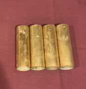 Four Antique Brass Candle Socket Covers Sconce Chandelier Parts Soc30