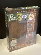 Puzz-3d Puzzle Grandfather Clock 777 Pieces W/real Clock- Wrebbit - New In Box