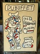 Vintage 1973 Jean Dubuffet Guggenheim Museum Poster Lithograph Pace Edition