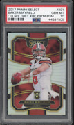 2017 Panini Select Silver Prizm Xrc 301 Baker Mayfield Rc Rookie Psa 10