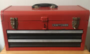 Sears Craftsman Professional Vintage 2 Drawer Red Tool Box Chest Metal