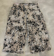 Nine West Ladies Heidi Pull-on Skimmer Stone Abstract Cat Print Choose Your Size