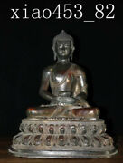 20andrdquoold Collection Antiques Chinese Pure Copper Sprinkle Cinnabar Buddha Statue