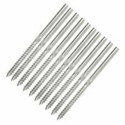 10and20and50pcs T316 Stainless Steel Lag Screw Stud Hand Swage 1/8 Cable Railing