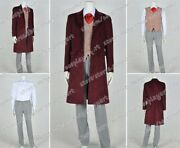 Who Cosplay Doctor The 4th Fourth Dr Tom Baker Costume Suit Full Set Daily Wear
