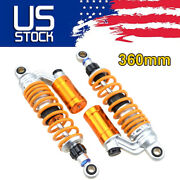 2x 360mm 14and039and039 Rear Air Shock Absorbers Suspension Motorcycle Atv Dirt Bike Us Bb
