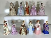 Lot Of 11 New Lenox Fine Porcelain Great Fashions Of History Figurines