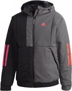 Nwt Adidas Menand039s Terrex Back To Sport Insulated Hooded Mock Neck Jacket Ft2445