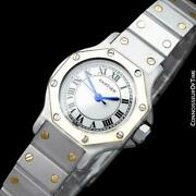 Santos Octagon Ladies Watch Ss Steel And 18k Gold - Mint With Warranty