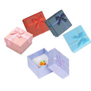 1/3x Jewellery Jewelry Gift Box Case For Ring Square Colorfus1