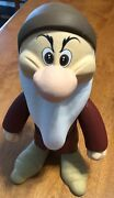 Vintage Hand-carved And Painted 10 Wooden Disney Grumpy Doc And Dopey Dwarf