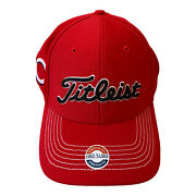 New Titleist 47'red White Mlb Cincinnati Reds Golf Baseball Hat Size L-xl Fitted