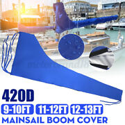 Fits For 9-10ft/11-12ft -13ft Mainsail Boom Cover Sail Protector Waterproof