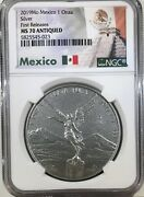 2019 Mexico 1 Oz Onza Silver Libertad Antique Finish Ngc Er Ms70 1000 Minted /9