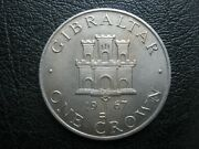 Gibraltar 1967 Cu-ni Crown Coin - Castle And Key - Good Details