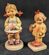 Goebel Hummel Club Figurines I Brought You A Gift And Flower Girl Special