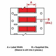 Brady Ps-094-2-rd-2 1 X 3/16 Red Wire Marking Sleeves