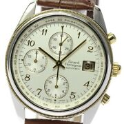 Girard-perregaux Gold Plated4900 4910 Chronograph Automatic Menand039s Watch_626482