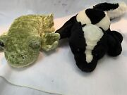 Lot Of 2 Caltoy Plush Frog And Skunk Animal Hand Puppets