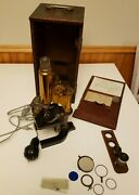 Vintage 1900and039s Microscope - Spencer Lens Company- Brass Microscope - Works