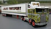1/64 Dcp K100 Kenworth Collins Australian Style And Tri Trailer New 60-0731