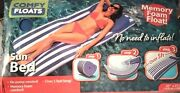 Comfy Floats Sun Bed Large Swimming Pool Float Memory Foam No Pump Needed 65ins.