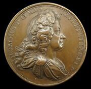 1717 Act Of Grace And Free Pardon 45mm Bronze Medal - By Croker