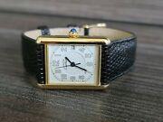 Tank 2413 18k Gold Plated Unisex In Very Good Condition + Extra Strap