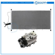 Ac Condenser And Ac Compressor Cooling Kit For 2004-2006 Ford F-150