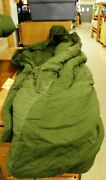 Vintage Us Army Sleeping Bag Intermediate Cold W/ Hood Without Carrying Bag