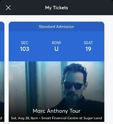 2 Marc Anthony Tour Tickets State Farm Arena Saturday August 28 2021 8pm