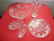 Anchor Hocking Star Of David Glassware 5 Pcs Prescut Clear Free Local Delivery