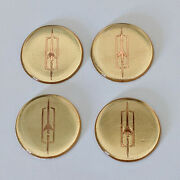 Gold Oldsmobile Zenith Wire Wheel Chips Emblems Decals Set Of 4 Size 2.75in.