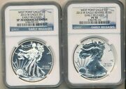 2013 W West Point American Silver Eagle 2 Coin Set-ngc Graded Sp70,pf70 Free Sh