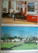 Billy Carter Gas Station W/ Cigarette Pabst Beer And Vending Machine Ga Postcard