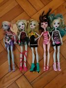 9 Monster High Doll Dolls Lot W/ Clothes Draculaura Lagoona Frights Roller