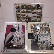 Lot Of 3 2the New Yorker 1000pc 1 Vouge 750pc Jigsaw Puzzle