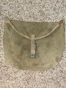 Wwii Era Us Army British Made Haversack Canvas Mess Kit Pouch