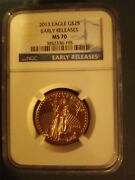 2013 American Silver Eagle Early Releases Ngc Ms70