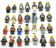 Lego Large Lot Of 28 Castle Minifigures Lion Knight Kingdoms Soldiers Medieval