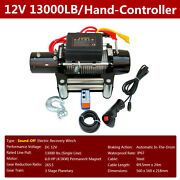 Electric Winch 13000 Lbs 12v, Mute Winch For Trailer Truck Suv, 85ft Steel Cable