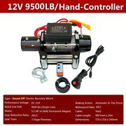 Electric Winch 9500 Lbs 12v, Mute Winch For Trailer Truck Suv, 85ft Steel Cable