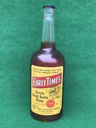 Vtg. Early Times Kentucky Straight Bourbon Whisky Display Empty Bottle 18.5andrdquo